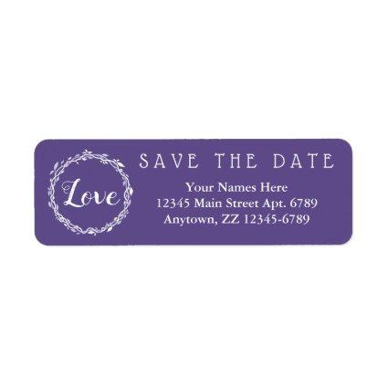 An Ultra Violet Wedding Purple Save The Date Label