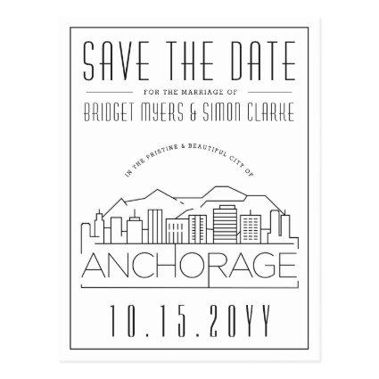 Anchorage Wedding | Stylized Skyline