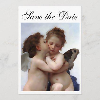 Angel Kiss Save the Date Invitation Card
