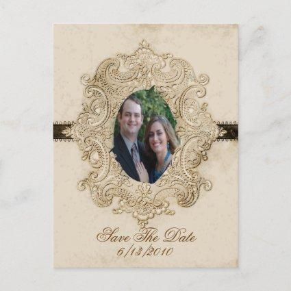 Antique looking Save the date post card