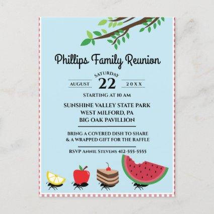 Ants Carrying Food Away Family Reunion Invitation