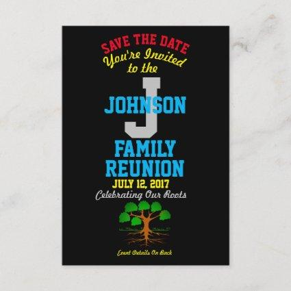 Any Name Family Reunion with Any Date - Save The Date