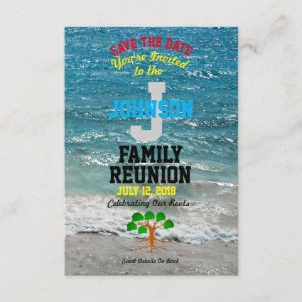 Any Name Tropical Family Reunion with Any Date - Save The Date