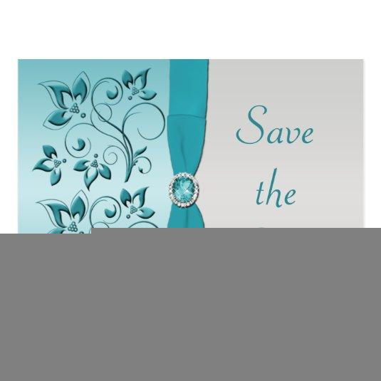 130 aqua and silver quinceanera cards personalize this save the date