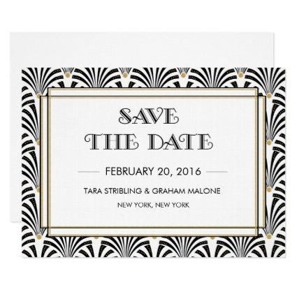Art Deco Gatsby  Invitation
