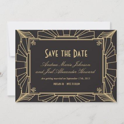 Art Deco Save the Date by Origami Prints
