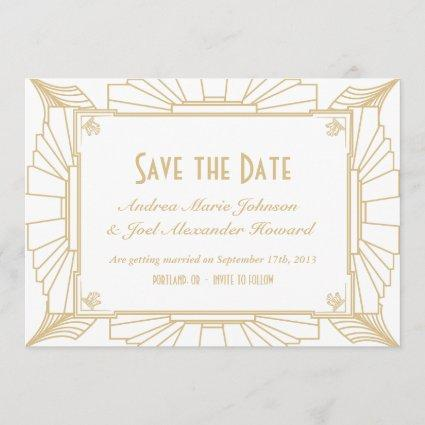 Art Deco Style Wedding Save the Date