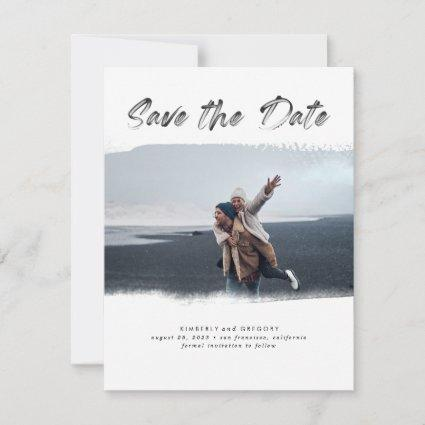 Artistic and Modern Save the Date Photo