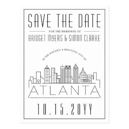 Atlanta Wedding | Stylized Skyline