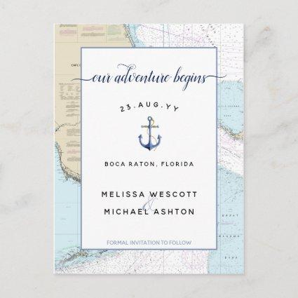 Authentic Nautical Adventure Begins Save the Date Announcement