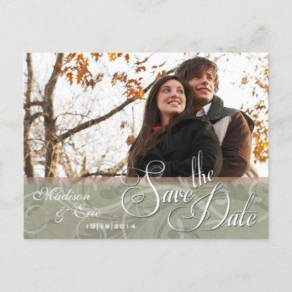 Autumn Colors Simple Save the Date Announcement
