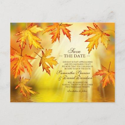 Autumn / Fall Wedding Save The Date Cards