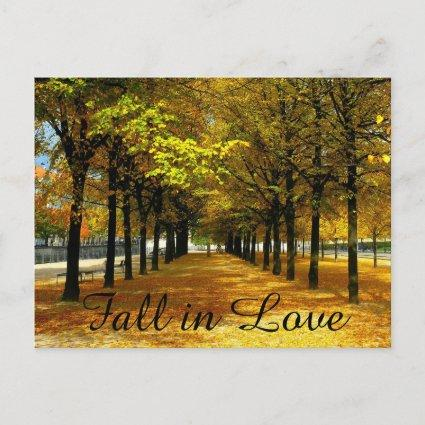 Autumn Leaves Save The Date Post Cards