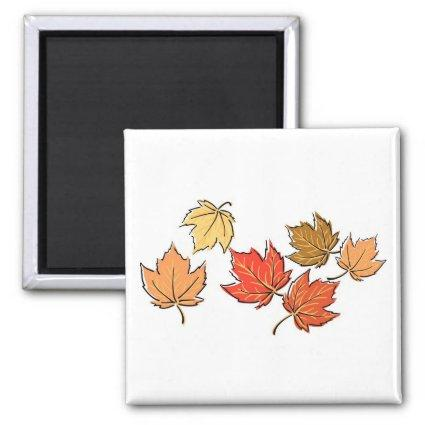 Autumn Maple Leaves Magnets