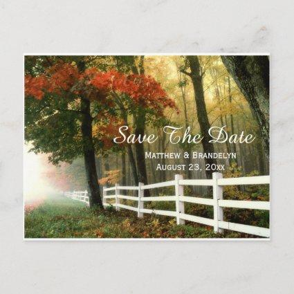 Autumn Morning  Wedding Post Cards