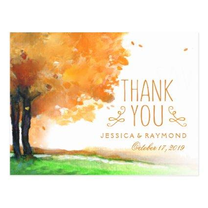 Autumn Trees Fall Thank You Matching
