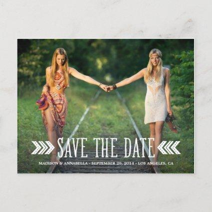 Aztec Arrows | Save the Date Cards