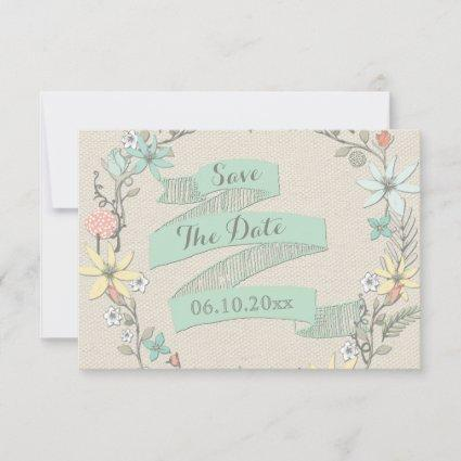 Baby Shower Floral Wreath Banner Save The Date