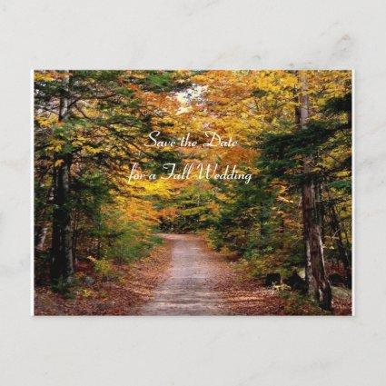 Back Road Fall Save the Date Template s