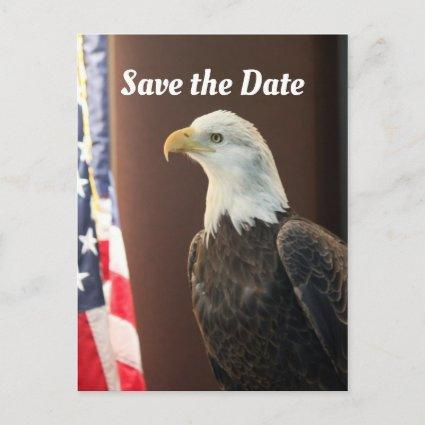 Bald Eagle Flag Save the Date Announcement