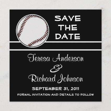 Baseball Save The Date Wedding Announcement