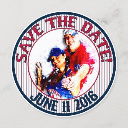 Baseball Wedding Save-The-Date-HOWARD,Option 3 Save The Date