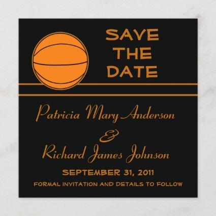 Basketball Save The Date Wedding Announcement