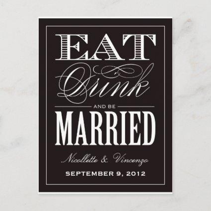 BE MARRIED   SAVE THE DATE ANNOUNCEMENT