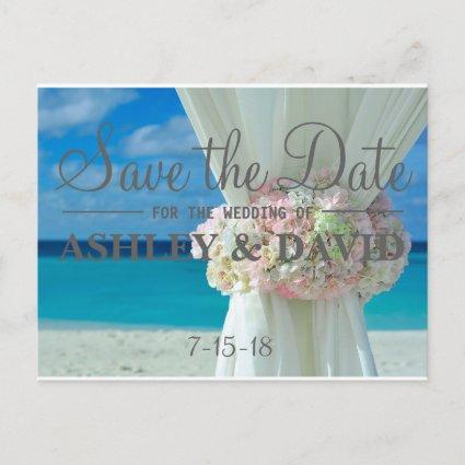 Beach Bouquet Save The Date Cards