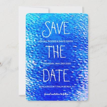 Beach Destination Save The Date