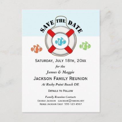 Beach Family Reunion or Party Save the Date Announcement