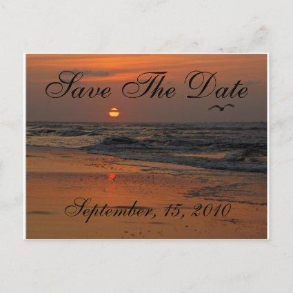 Beach Family Reunion Save The Date Announcement
