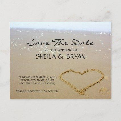 Beach Ocean Wedding Save The Date Post Card