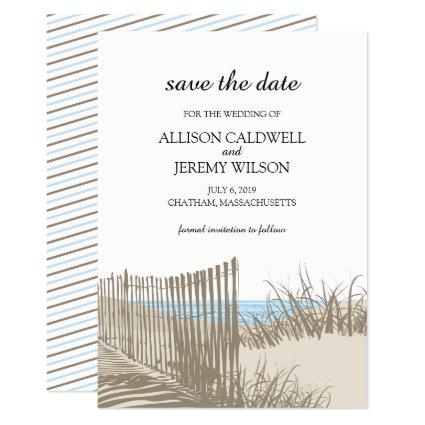 Beach Sand Dunes Wedding Save the Date