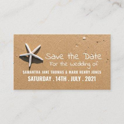 Beach Starfish, Save the Date Enclosure Card