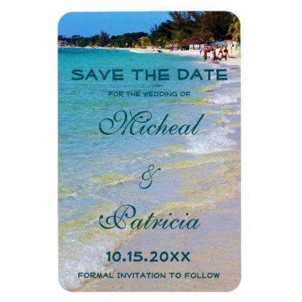 Beach Surf Sands Tropical Wedding Save The Date Magnet