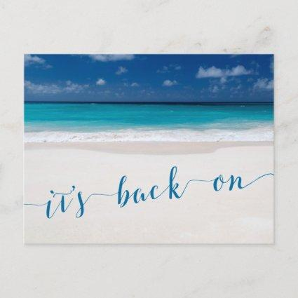 Beach Theme Save The Date Its Back On Announcement