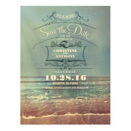 Beach wedding retro