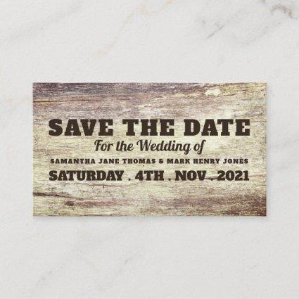 Beached Wood Effect, Save the Date Enclosure Card