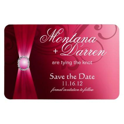 Beautiful Flourish Save the Date Magnets | hot pink