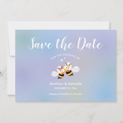 Beautiful Meant To Bee Couple Elegant Wedding Save The Date