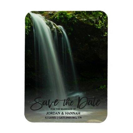 Beautiful Mountain Waterfall Save The Date Magnet