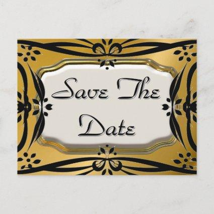 Beautiful Save The Date Gold & Black s