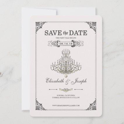 Beauty and the Beast | Chandelier - Save the Date