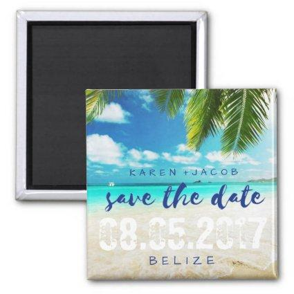Belize Beach Destination Wedding Save the Dates Magnet