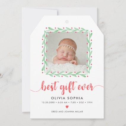Best Gift Ever Newborn First Christmas Birth Ann Save The Date
