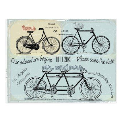 Bicycle Built For Two Getting Married Cards