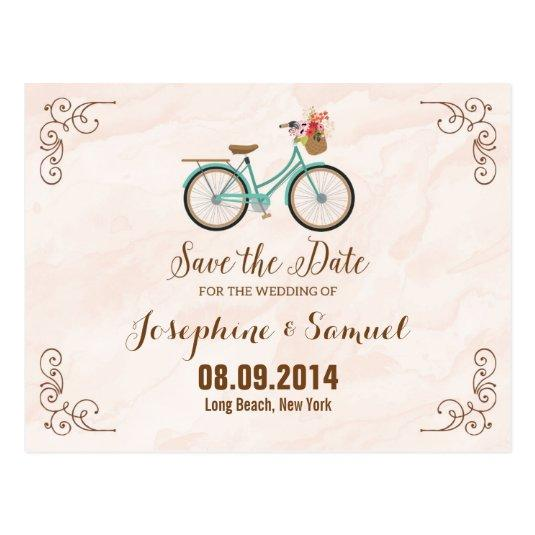 Bicycle Save The Date Announcement Watercolor