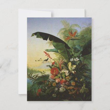 Bird of Paradise WEDDING SAVE THE DATE note