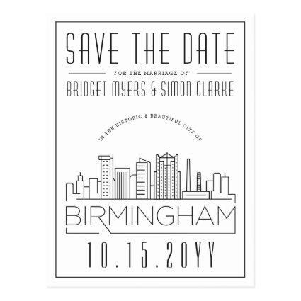 Birmingham Wedding Stylized Skyline
